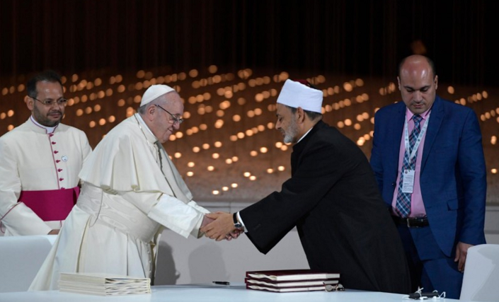 Papa e imán Al azhar